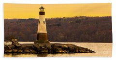 Late Fall Sunset At Myers Park Beach Towel
