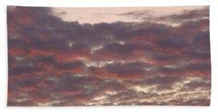 Late Summer Evening Sky Beach Sheet