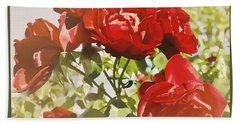 Late Summer Roses - Dreamy Beach Sheet by Maria Janicki