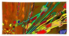 Lava Splash On Venus Abstract Beach Towel