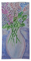 Lavendar  Flowers Beach Towel by Sonali Gangane