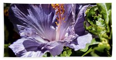 Lavender Hibiscus Beach Towel by Patricia Griffin Brett