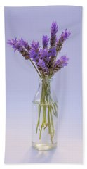 Lavender In Glass Vase Beach Sheet by Jocelyn Friis