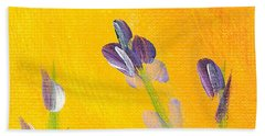 Lavender - Hanging Position 2 Beach Towel by Val Miller