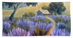 Lavender Path Beach Towel