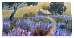 Lavender Path Beach Sheet