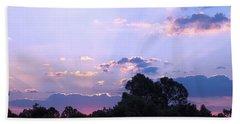 Lavender Sunrise Beach Towel