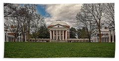 Lawn And Rotunda At University Of Virginia Beach Towel