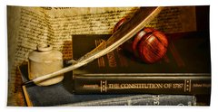 Lawyer - The Constitutional Lawyer Beach Towel by Paul Ward