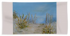 Beach Towel featuring the painting Lbi Peace by Judith Rhue