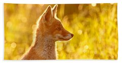 Le P'tit Renard Beach Towel by Roeselien Raimond