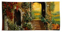 Le Scale   Beach Towel by Guido Borelli