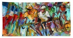 Le Tour De France Madness 02 Beach Towel