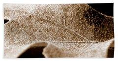 Leaf Collage 1 Beach Sheet