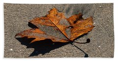 Leaf Composed Beach Towel by Joe Schofield