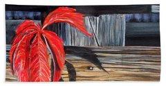 Leaf Shadow 2 Beach Sheet by Marilyn  McNish