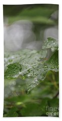 Leafy Raindrops Beach Sheet