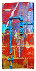 Leaky Faucet Beach Towel by Christiane Hellner-OBrien