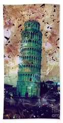 Leaning Tower Of Pisa 1 Beach Sheet