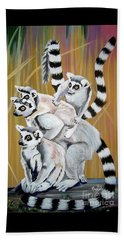 Leapin Lemurs Beach Towel