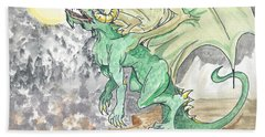 Leaping Dragon Beach Towel