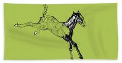 Leaping Foal Greens Beach Towel
