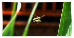 Beach Towel featuring the photograph Leave No Bee Behind by Thomas Woolworth