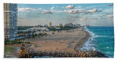 Leaving Port Everglades Beach Towel