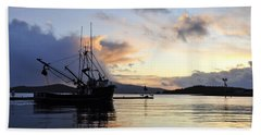 Beach Towel featuring the photograph Leaving Safe Harbor by Cathy Mahnke