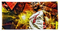 Lebron James Art Poster Beach Towel by Florian Rodarte