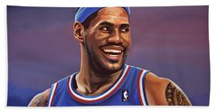 Lebron James  Beach Towel by Paul Meijering