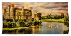 Leeds Castle Landscape Beach Towel