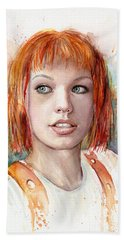 Leeloo Portrait Multipass The Fifth Element Beach Towel