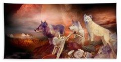 Legend Of Wolf Mountain Beach Towel