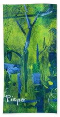 Lemon Willow Beach Towel