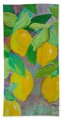Lemons On Lemon Tree Beach Towel