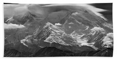 101366-lenticular Cloudcap Over Mt. Mckinley Beach Towel