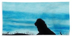 Leo At Sunset Beach Towel