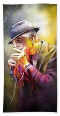 Leonard Cohen 02 Beach Towel