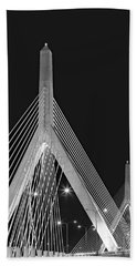 Leonard P. Zakim Bunker Hill Memorial Bridge Bw II Beach Towel