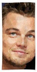 Leonardo Dicaprio Portrait Beach Sheet