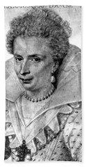 Leonora Galigai (1571?-1617) Beach Towel
