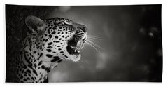 Leopard Portrait Beach Towel