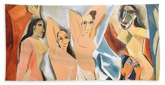 Les Demoiselles D'avignon Picasso Beach Sheet