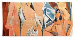 Les Demoiselles D'avignon Picasso Beach Towel by RicardMN Photography