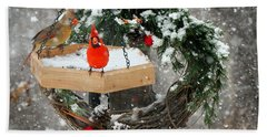 Beach Towel featuring the photograph Let It Snow by Nava Thompson