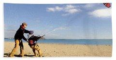 Let's Go Fly A Kite Beach Towel