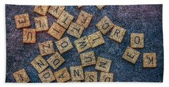 Lets Play Scrabble Beach Towel