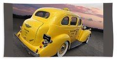 Let's Ride - Studebaker Yellow Cab Beach Towel