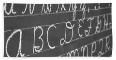 Letters On A Chalkboard Beach Sheet